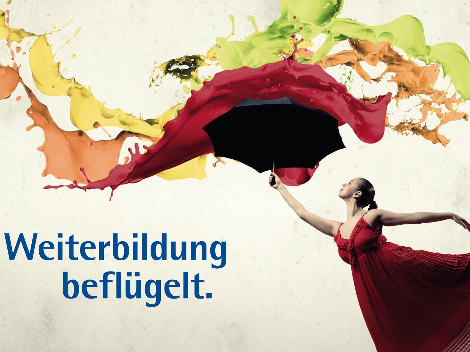 Bild einer Tänzerin mit bunten Farben