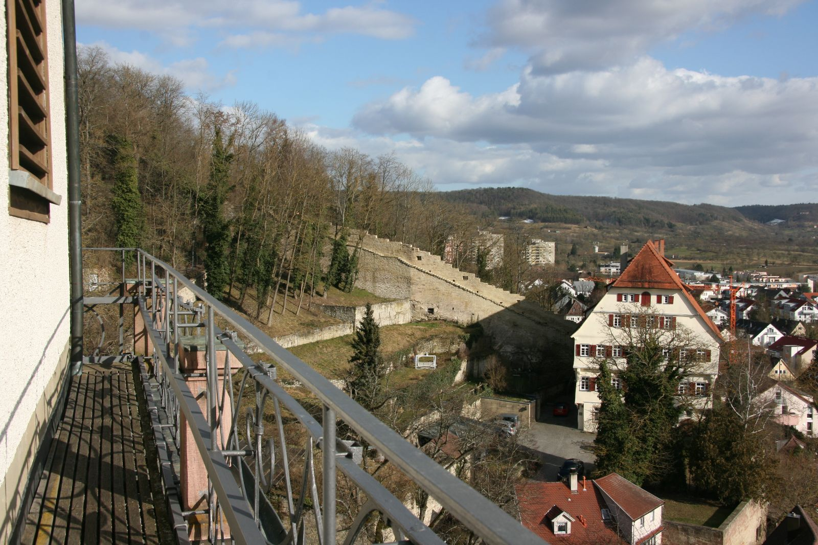 Blick von der Balustrade des Glockenturms