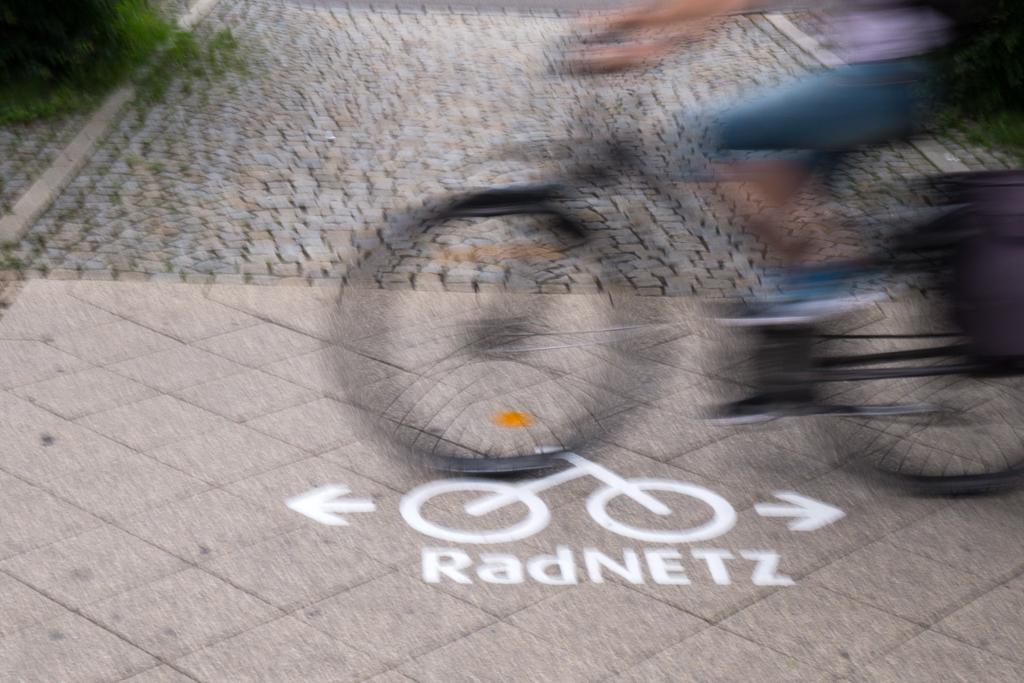 Radnetz mit aktivem Radler