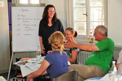 HEBT'S Workshop Mitglieder aktivieren - kleine Arbeitsgruppe von vier Teilnehmenden