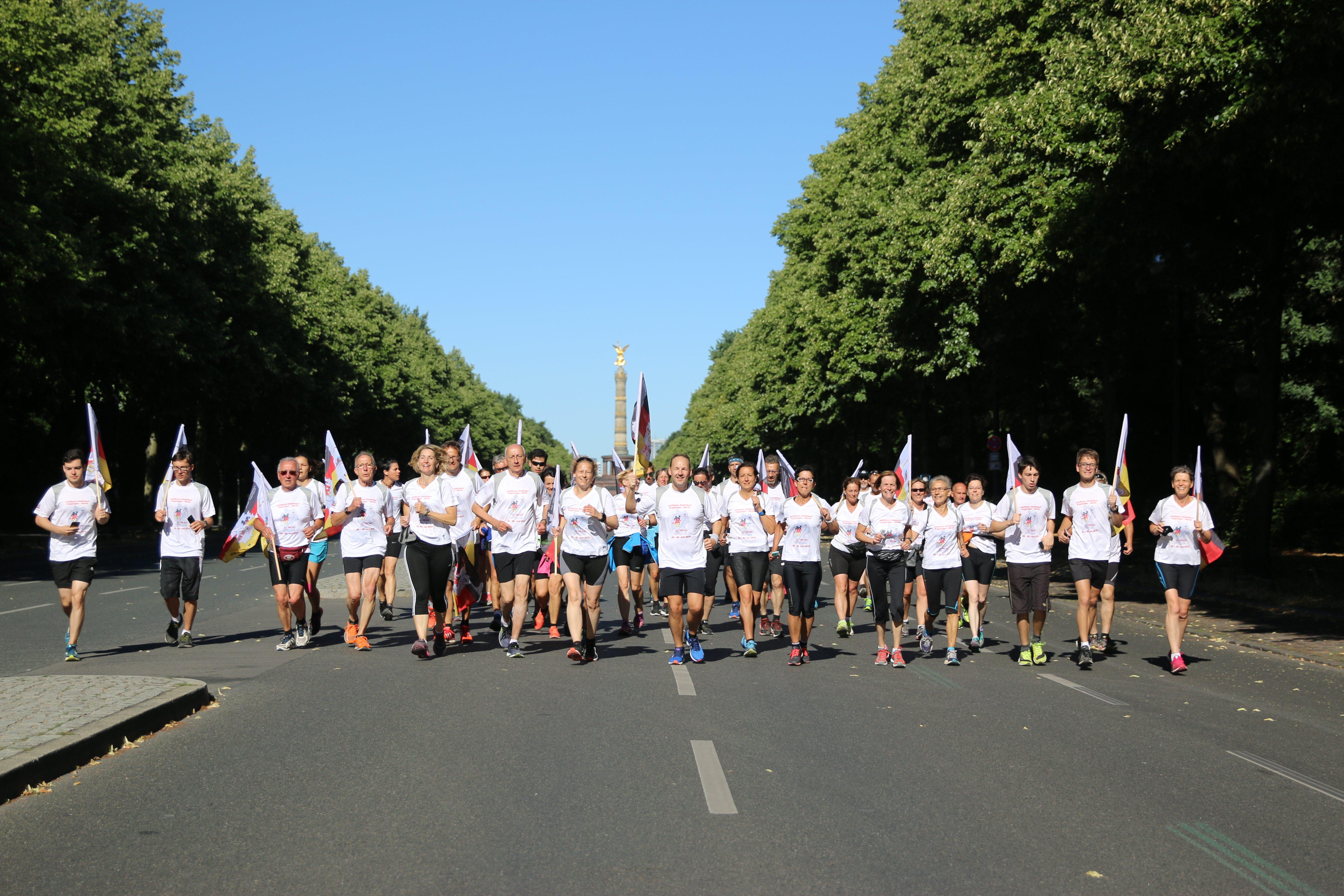 Staffellauf: Kurz vor dem Ziel in Berlin