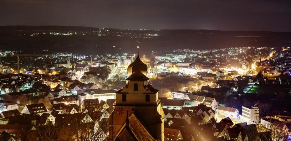 Herrenberg bei Nacht
