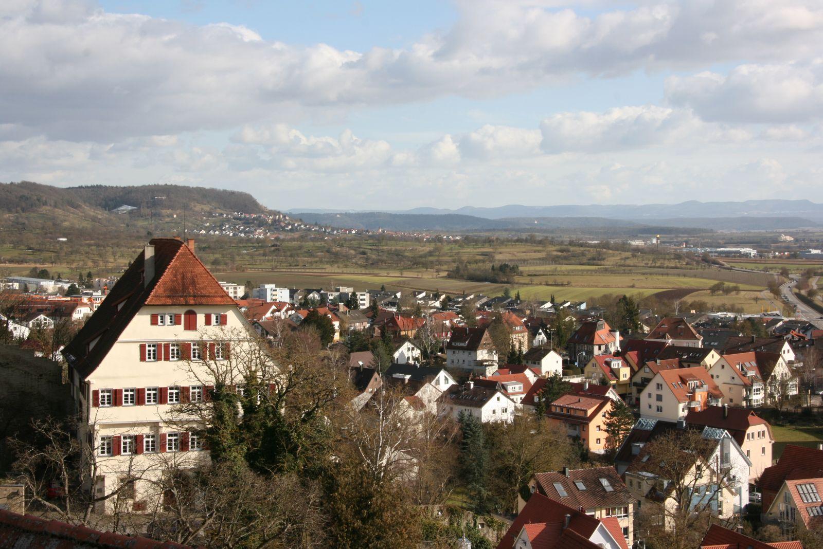 Blick ins Gäu vom Glockenmuseum