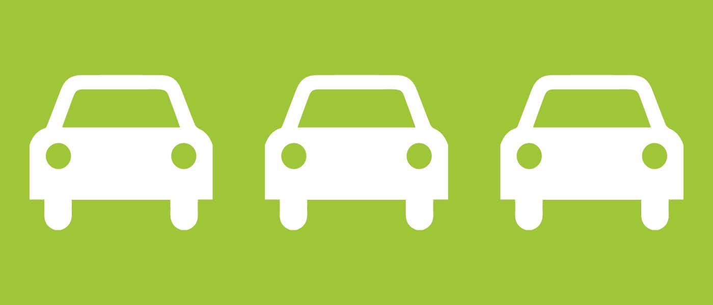 Stadtluft verbessern: drei Autos