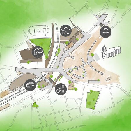 Stadtentwicklung-Karte 450 450