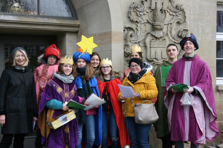 Sternsinger vor dem Herrenberger Rathaus