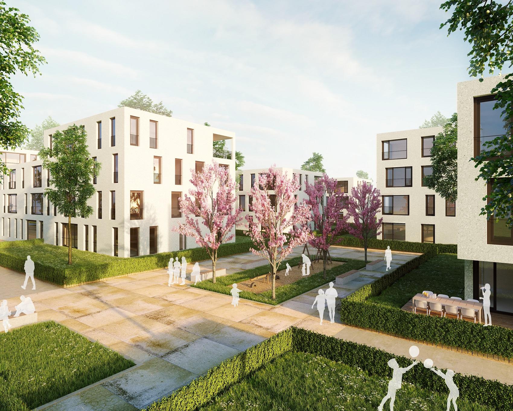 Ein großer Platz mit viel Aufenthaltsqualität zeichnet das geplante Quartier auf dem Leibfried-Areal aus.