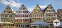 Fachwerkhäuser am Marktplatz von Herrenberg