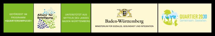 """Logo des Ministeriums für Soziales und Integration Baden-Württemberg, Logo des """"Quartiers 2030 und der Allianz für Beteiligung"""""""