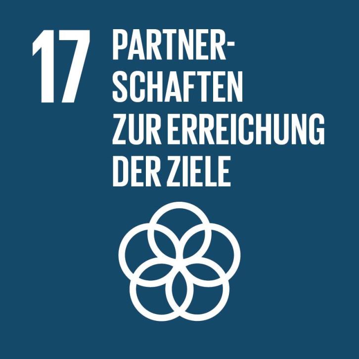 SDG-Icon zum Nachhaltigkeitsziel Nr. 17: Partnerschaften zur Erreichung der Ziele