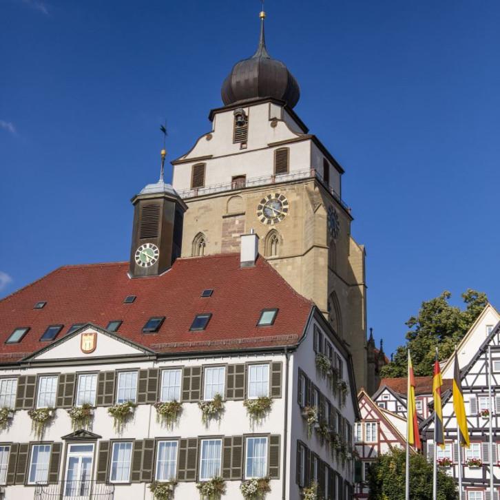 Rathaus und Stiftskirche Herrenberg