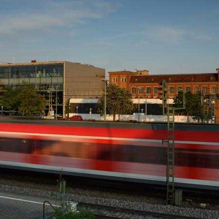 Zugfahrt am Herrenberger Bahnhof