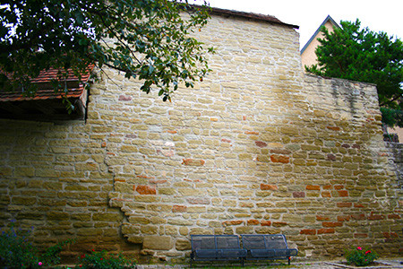 Stadtmauer am Graben in Herrenberg