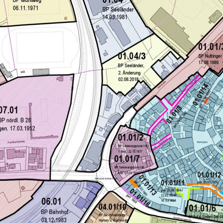 Planbereiche 2018 Innenstadtentwicklung
