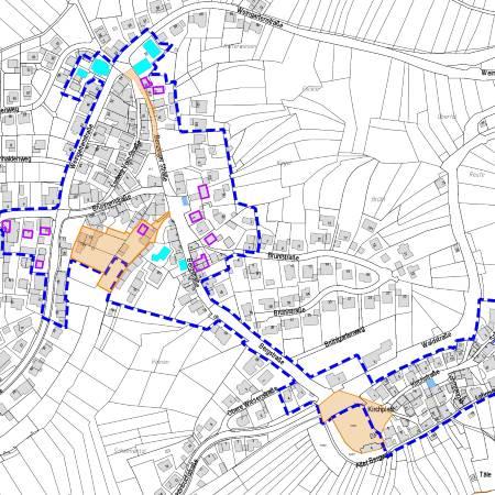 Lageplan Sanierungsgebiet Herrenberg Mönchberg