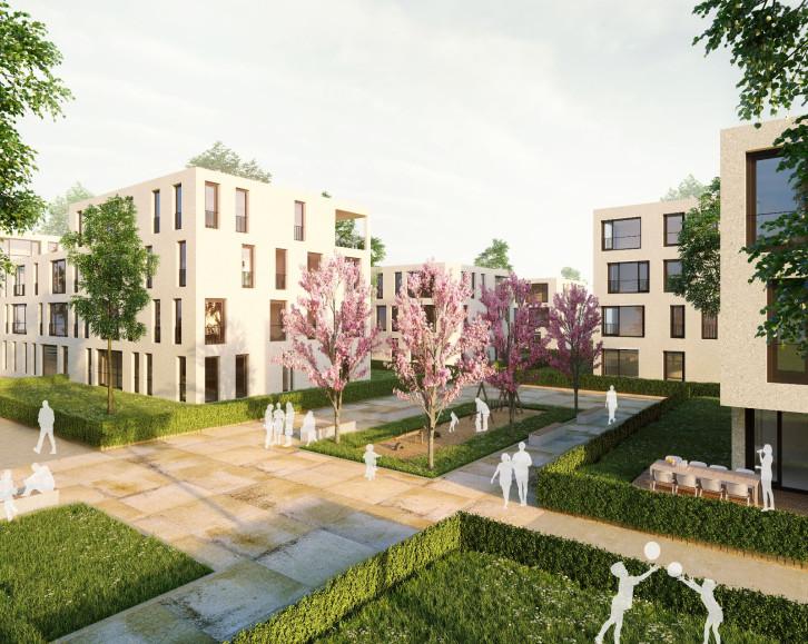 Visualisierung des neuen Quartiers auf dem Leibfried-Areal