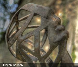 Jerg Ratgebs Frau Skulptur von Michaela Fischer