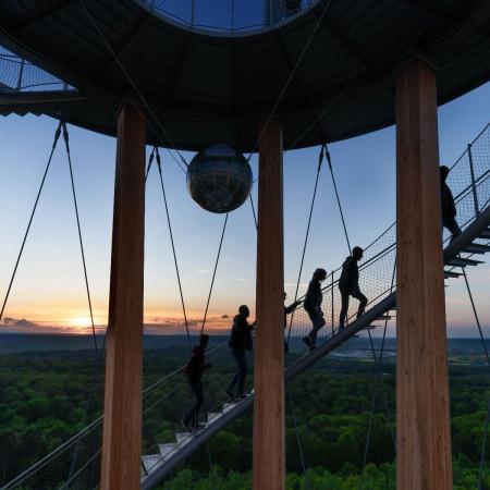 Sonnenuntergang am Schönbuchturm