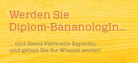Schriftzug: Werden Sie Diplom-BananologIn