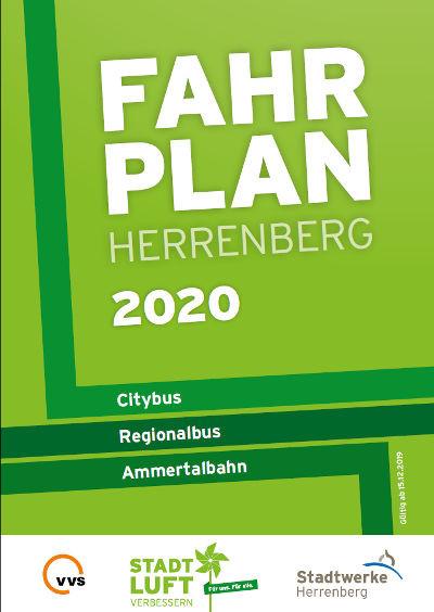 Titelblatt des Stadtbusfahrplans 2020