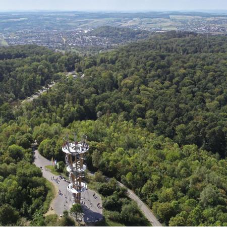 Blich über den Schönbuchturm nach Herrenberg