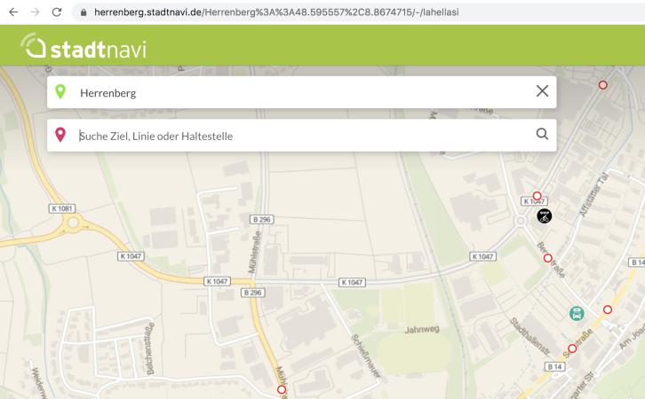 stadtnavi - Bildschirmfoto