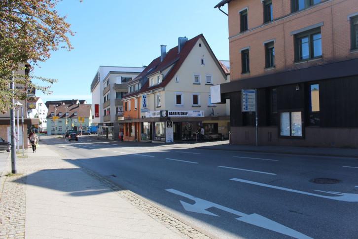 Blick in die Horber Straße in Richtung Reinhold-Schick-Platz vor dem Umbau