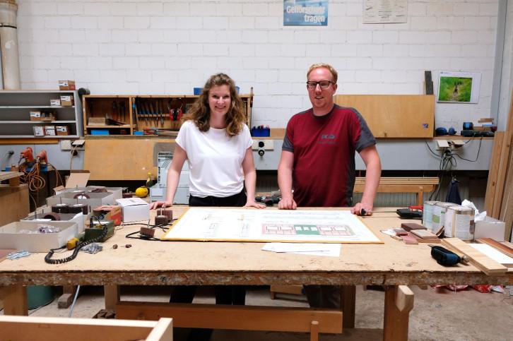 Übernehmerin Daniela Diether mit ihrem Cousin und Mitübernehmer Michael Diether im Betrieb
