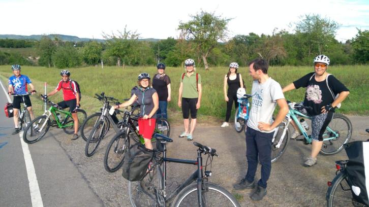 Das Stadtradeln-Team der Herrenberger Stadtverwaltung bei einer Fahrradausfahrt.
