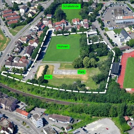 Luftbild Aischbachareal