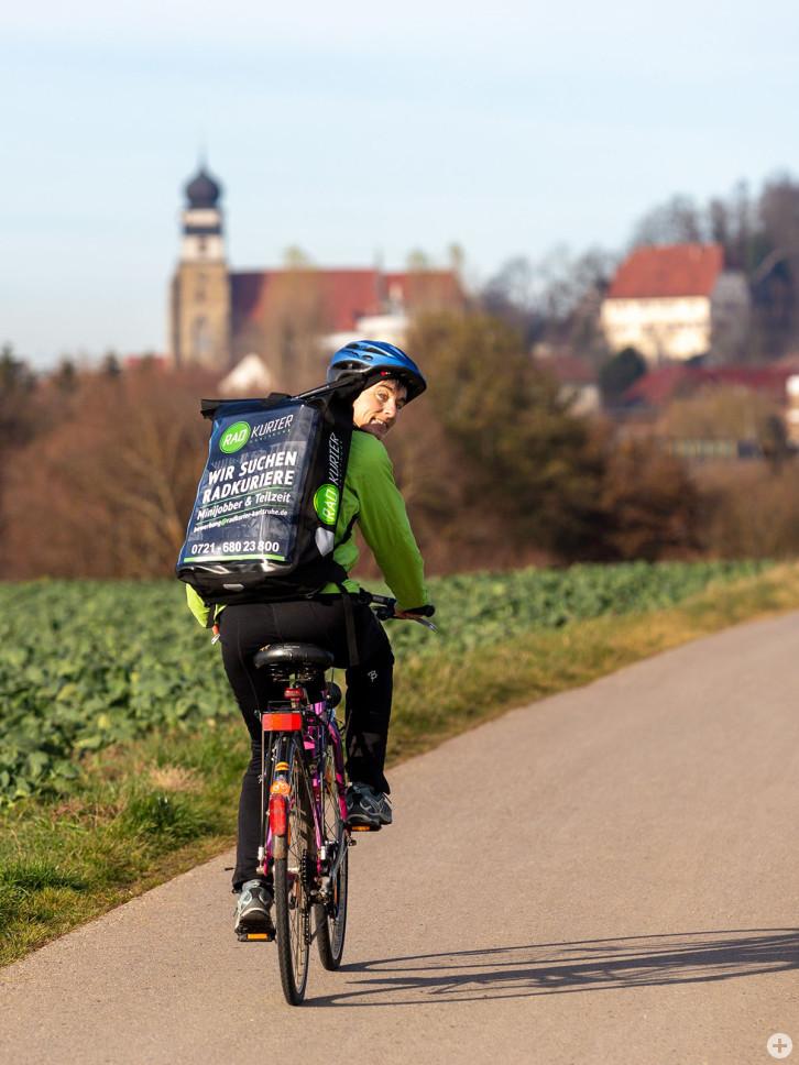 Radkurier-Fahrerin Barbara Will