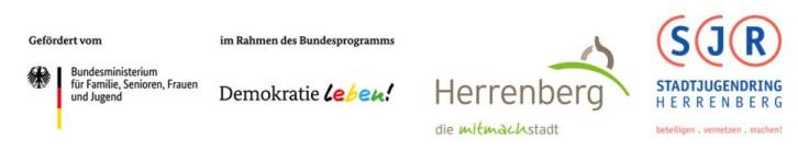 Logos zur Herrenberger Partnerschaft von Demokratie Leben