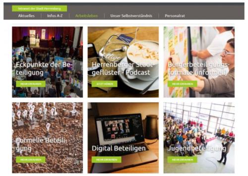 Screenshot der Digitalen Lernwelt im Intranet