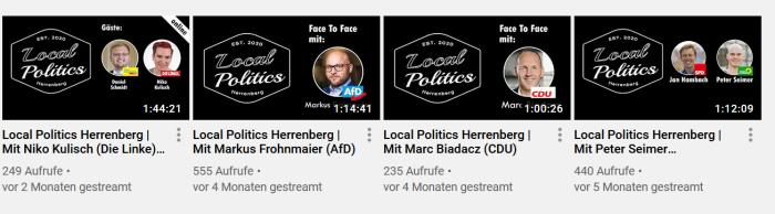 Ein Screenshot des Youtube-Kanals Local Politics