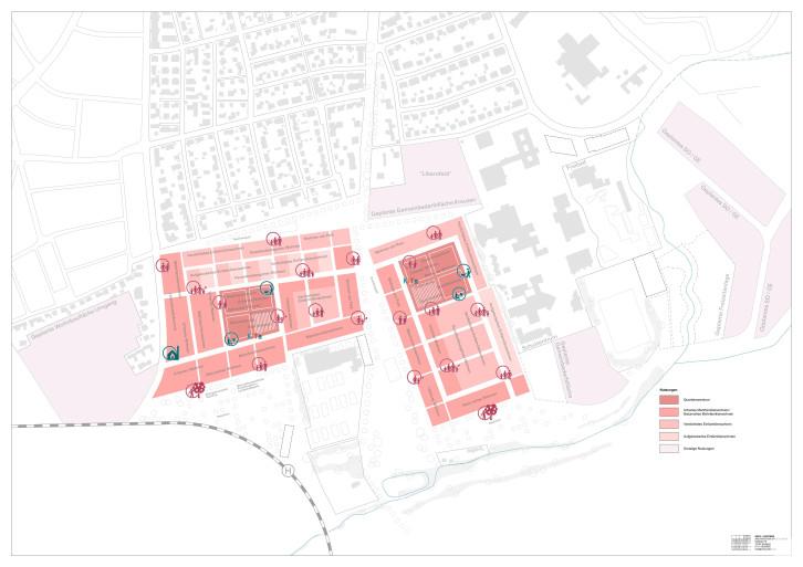 Dieses Bild zeigt die geplante Nutzungen gemäß des beschlossenen Rahmenplans
